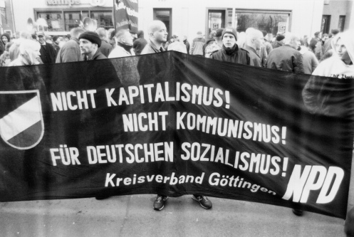 """Not Capitalism! Not Communism! For German Socialism!"" Photo: Daniel Mufson"