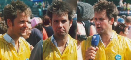 Christoph Schlingensief at the Love Parade. Photo(s): Daniel Mufson.